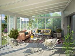 Jardines de invierno de estilo minimalista por Giulio Barbieri S.r.l.