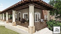 Fachada interior: Casas de estilo rústico por IAD Arqutiectura