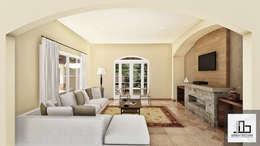 Sala de estar: Salas de estilo rústico por IAD Arqutiectura