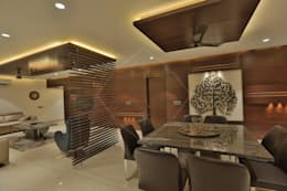 SKY DECK: asian Dining room by SPACCE INTERIORS