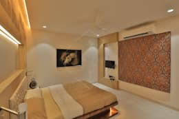 SKY DECK: asian Bedroom by SPACCE INTERIORS