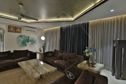 CAPITAL GREEN-2: asian Living room by SPACCE INTERIORS
