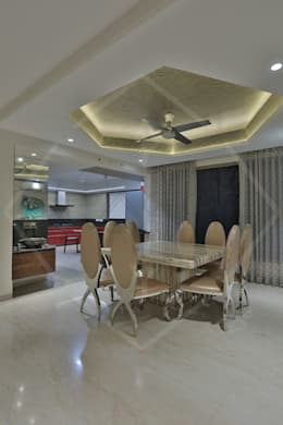 CAPITAL GREEN-2: asian Dining room by SPACCE INTERIORS