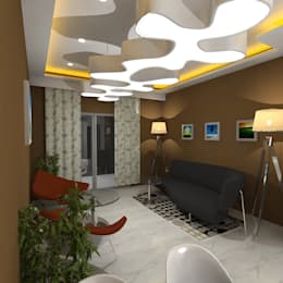Palacio 1BHK : modern Living room by Gurooji Design