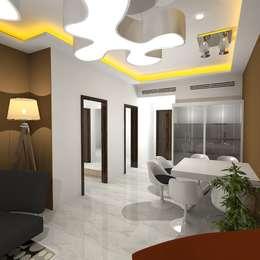 Palacio 1BHK : modern Dining room by Gurooji Design