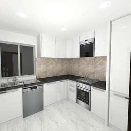 Palacio 1BHK : modern Kitchen by Gurooji Design