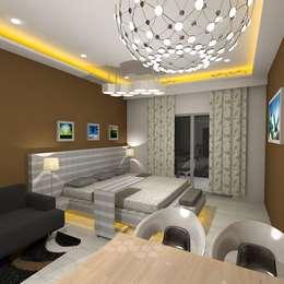 Palacio Studio Apartment : modern Bedroom by Gurooji Design
