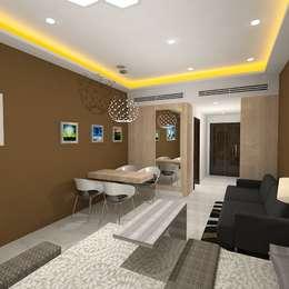 Palacio Studio Apartment : modern Living room by Gurooji Design