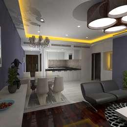 Palacio 2BHK: modern Living room by Gurooji Design