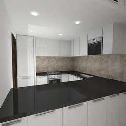 Palacio 2BHK: modern Kitchen by Gurooji Design