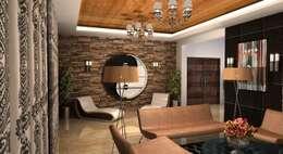 Shakib Villa Interior: classic Living room by Gurooji Design