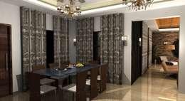 Shakib Villa Interior: classic Dining room by Gurooji Design