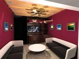 Neelesh Residence: modern Living room by Gurooji Design