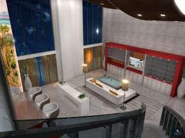 Loft Apartment: modern Living room by Gurooji Design