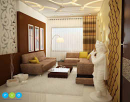 Be faithful to your own taste because nothing you really like is ever out of style.: modern Living room by FYD Interiors Pvt. Ltd