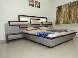 HAZIRA ROAD: modern Bedroom by SHUBHAM CONSULTANT & INTERIOR DESIGNING