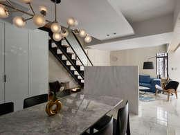 modern Dining room by 大集國際室內裝修設計工程有限公司