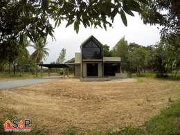 ASAP P17 บ้านชั้นเดี่ยว 2 ชั้น 1 ห้องนอน 2 ห้องน้ำ:  บ้านและที่อยู่อาศัย by Asap Home Builder