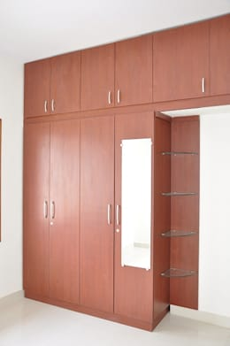 Modern Wardrobe Designs In India: asian Bedroom by Scale Inch Pvt. Ltd.