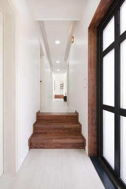 modern Corridor, hallway & stairs by (주)그린홈예진