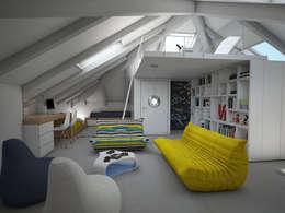 la camera dei ragazzi: Stanza dei bambini in stile in stile Moderno di Marianna Di Gregorio