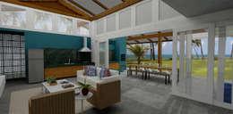 Salas de estilo tropical por Mutabile