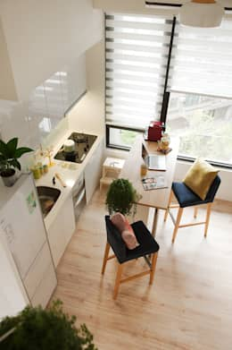 scandinavian Dining room by 一葉藍朵設計家飾所 A Lentil Design