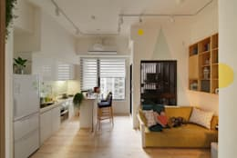 Livings de estilo escandinavo por 一葉藍朵設計家飾所 A Lentil Design