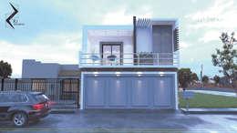 PMS-01: Casas de estilo moderno por RJ Arquitectos