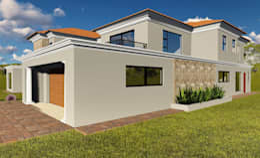 Casas de estilo moderno por Blackstructure Architects