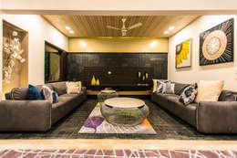 Lounge: modern Living room by Studio An-V-Thot Architects Pvt. Ltd.