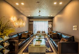 Formal Living Room: modern Living room by Studio An-V-Thot Architects Pvt. Ltd.