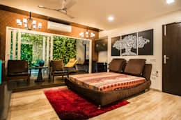 Bedroom-1: modern Bedroom by Studio An-V-Thot Architects Pvt. Ltd.