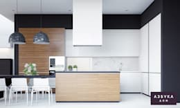 minimalistic Kitchen by Студия дизайна 'Азбука Дом'