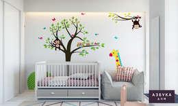 غرفة الاطفال تنفيذ Студия дизайна 'Азбука Дом'