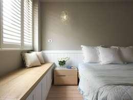 غرفة نوم تنفيذ 木皆空間設計