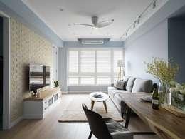 غرفة المعيشة تنفيذ 木皆空間設計