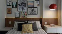 Projekty,  Sypialnia zaprojektowane przez Lelalo - arquitetura e design