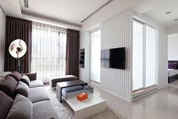 單層空間設計 台北:  客廳 by 達圓設計有限公司