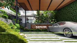 Biệt thự sân vườn :  Nhà by UK DESIGN STUDIO - KIẾN TRÚC UK