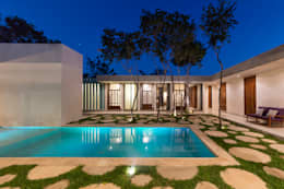 Piletas de estilo moderno por Taller Estilo Arquitectura