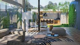 Casa Ribeirão: Salas de estar modernas por ARC+ Arquitetura