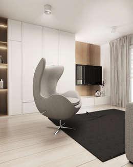 Salas multimedia de estilo moderno por FOORMA Pracownia Architektury Wnętrz