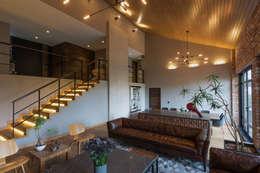 Casa AR: Salas de estilo moderno por ARCO Arquitectura Contemporánea