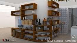 eclectic Kitchen by Urbe. Taller de Arquitectura y Construcción