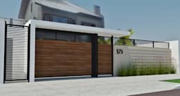 PROJETO DE FACHADA: Casas modernas por .BO - Arquitetura de Interiores