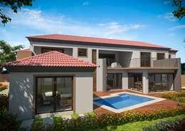 Modern pool upgrade: modern Pool by Clearviz Designs