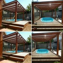 pergola piscina: Piscinas de estilo  por San Cristobal hnos constructora