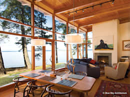Projekty,  Salon zaprojektowane przez Helliwell + Smith • Blue Sky Architecture