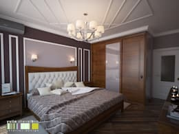 غرفة نوم تنفيذ Мастерская интерьера Юлии Шевелевой
